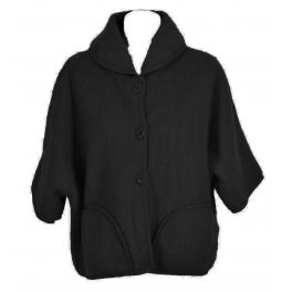 Poncho veste laine des Pyrénées noir