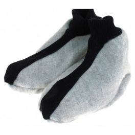 Chaussons gris clair