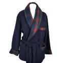 Veston homme laine des Pyrénées uni col écossais
