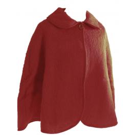Pelerine laine des Pyrénées griotte