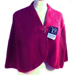 Chauffe épaules laine des Pyrénées framboise