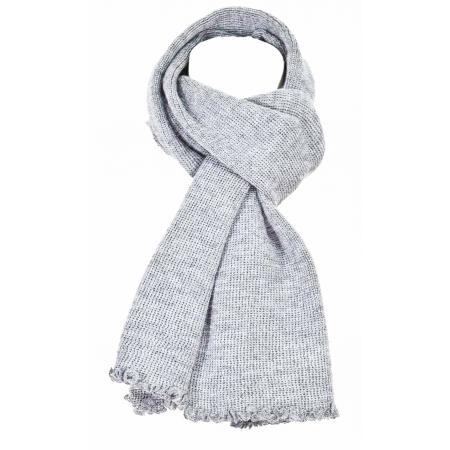 Echarpe laine maille gris