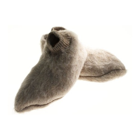 Chaussons laine des Pyrénées sahara