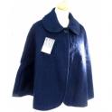 Pelerine laine des Pyrénées marine