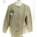 Veste laine des Pyrénées torsade sans col