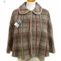 Pelerine laine des Pyrénées écossais daim