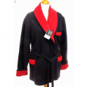 Veston homme laine des Pyrénées uni noir rouge