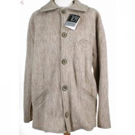veste homme laine des pyrnes col tricot