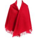 Grand châle laine des Pyrénées griotte